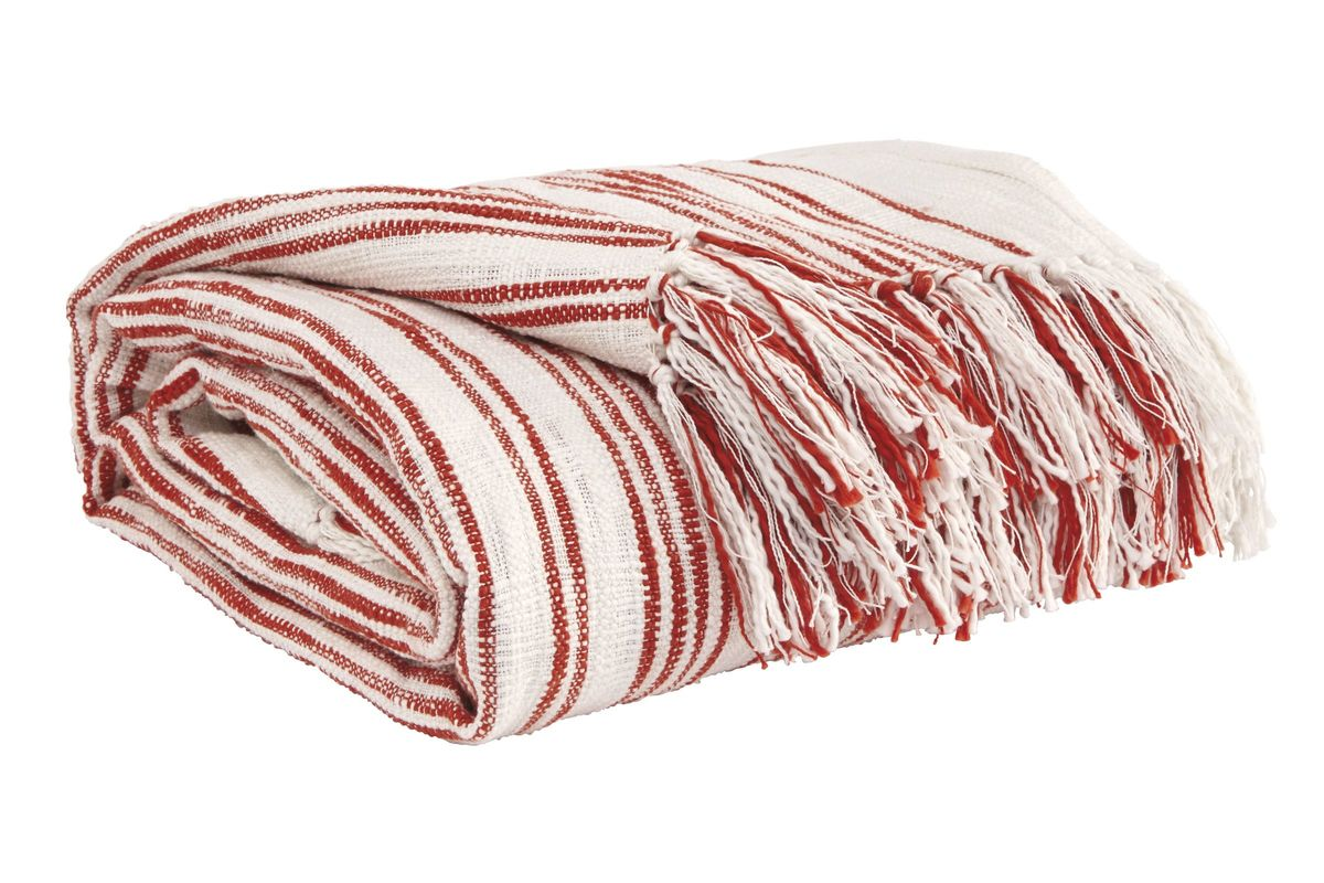 Callumn Throw in Coral by Ashley from Gardner-White Furniture