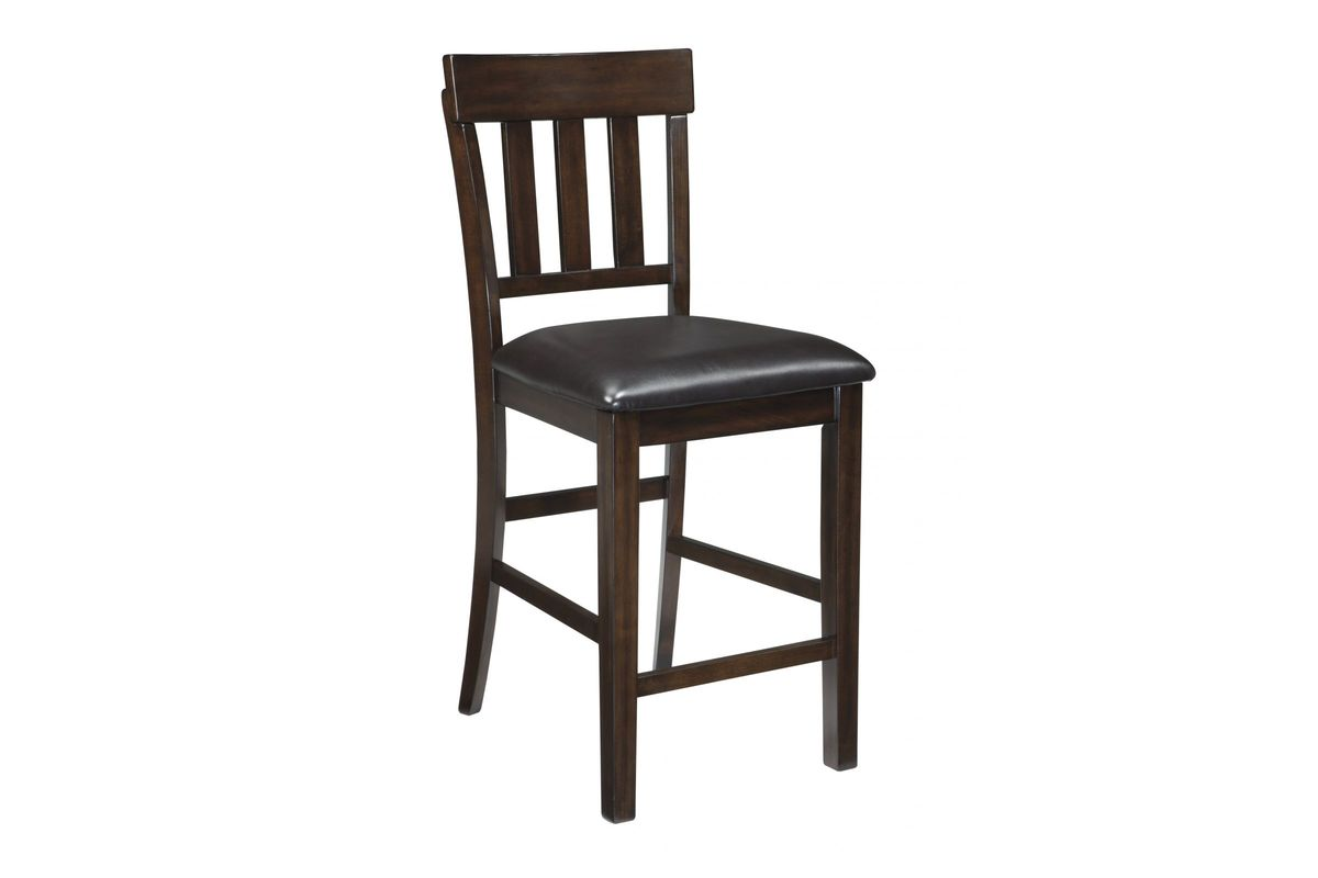 Haddigan Upholstered Bar Stools in Dark Brown Set of 2 by Ashley from Gardner-White Furniture