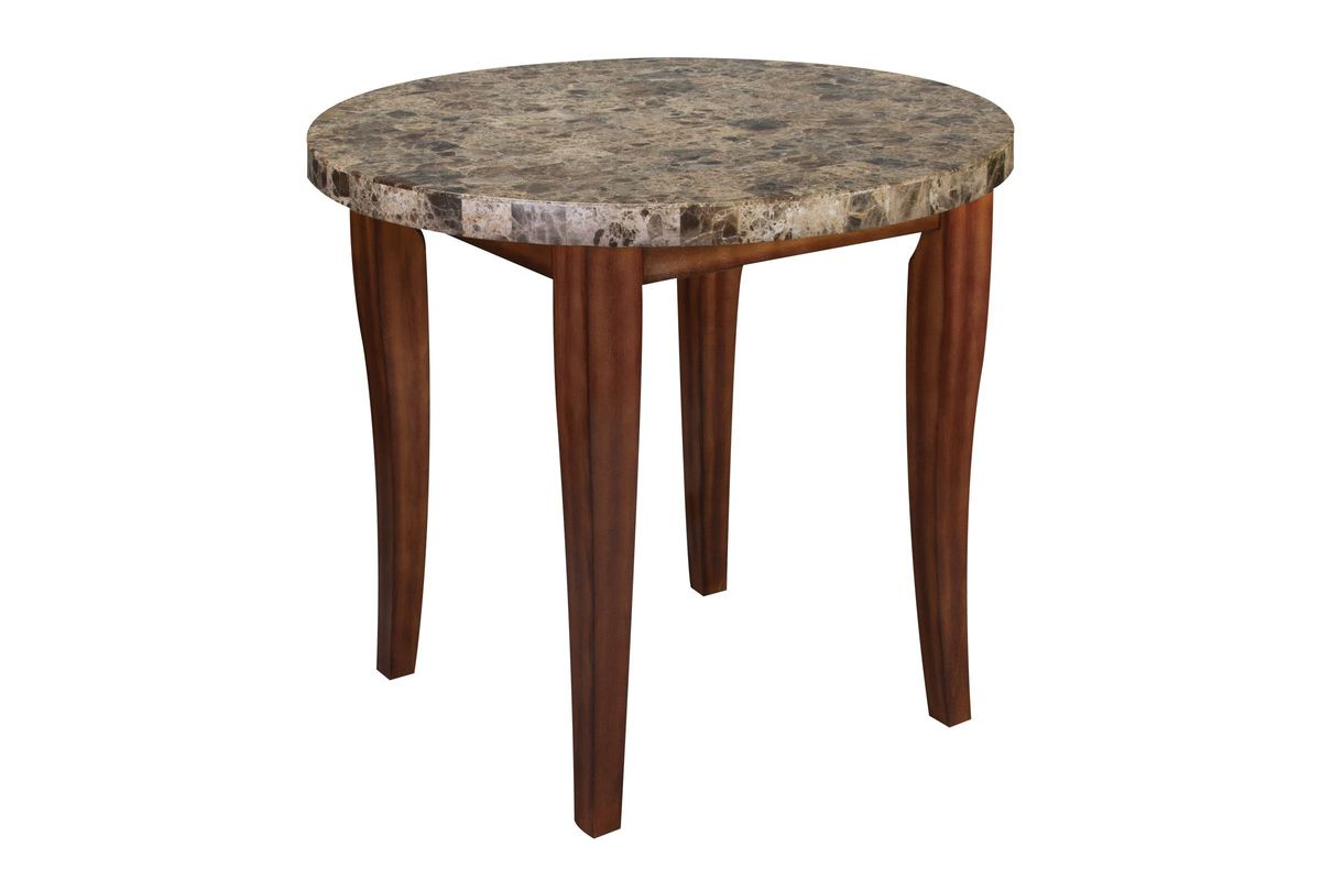 Montibello Round Marble Pub Table from Gardner-White Furniture