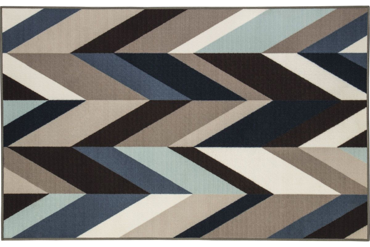 Keelia Medium Rug In Blue/Brown/Gray By Ashley® From Gardner White