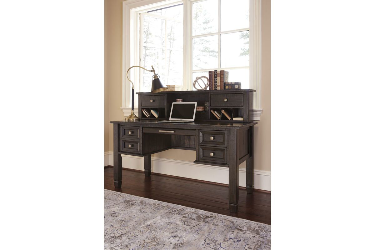 with product hutch brown desk office grayish townser in ashley by only home