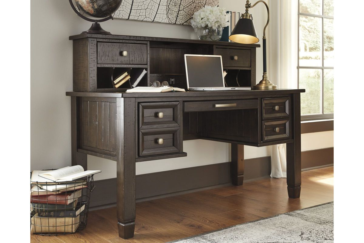 Townser home office desk hutch in grayish brown by ashley hutch only - Ashley furniture office desk ...