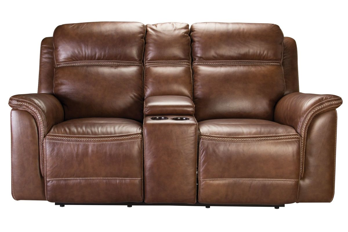 dbl recl reclining w loveseat picture console of brassville