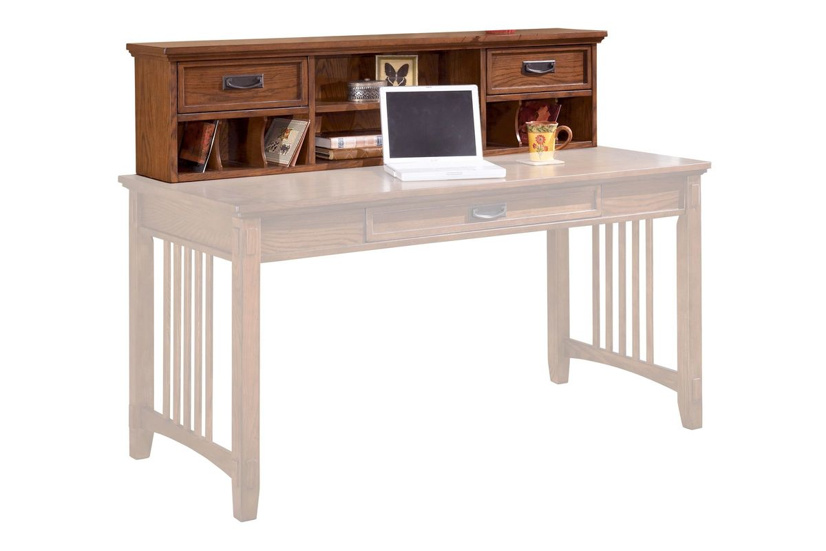 cross island desk hutch in brown by ashley from furniture