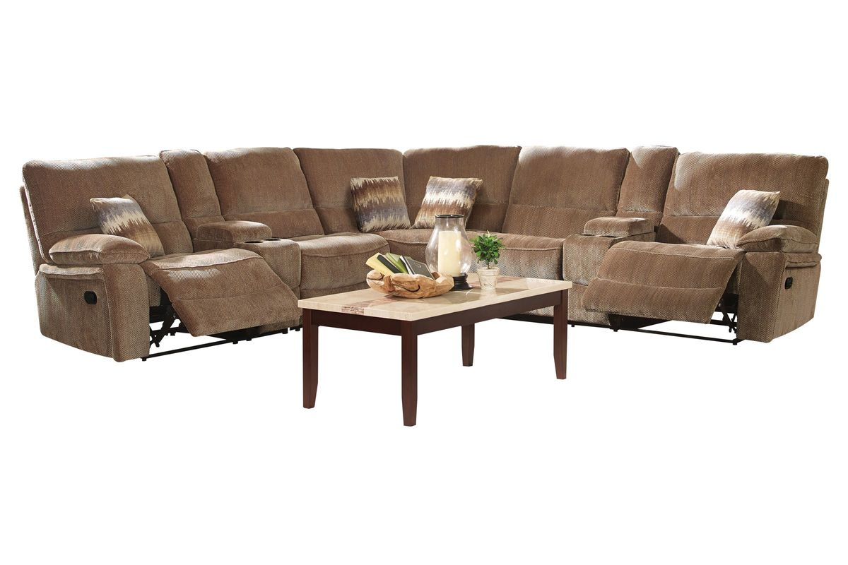 Ranger 7-Piece Chenille Power Reclining Sectional from Gardner-White  Furniture