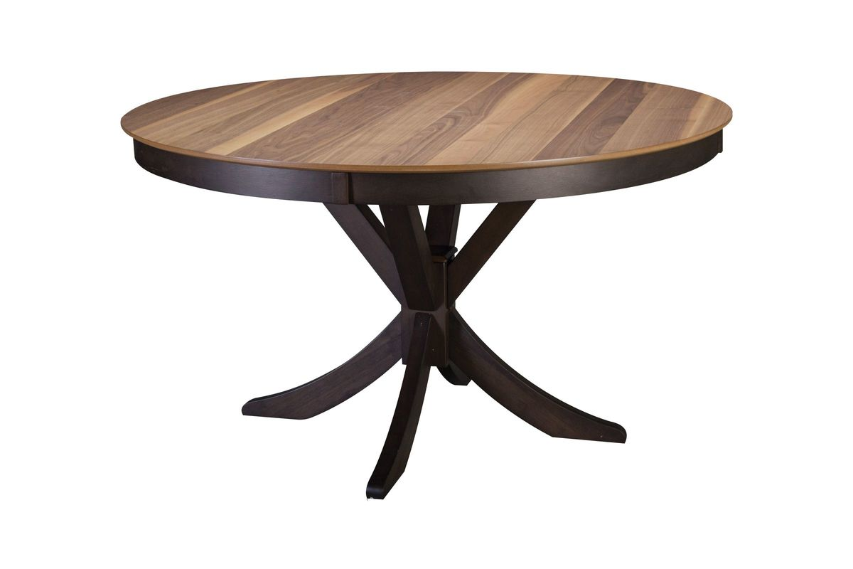 Turner round dining table 4 side chairs at gardner white for Round dining table for 4