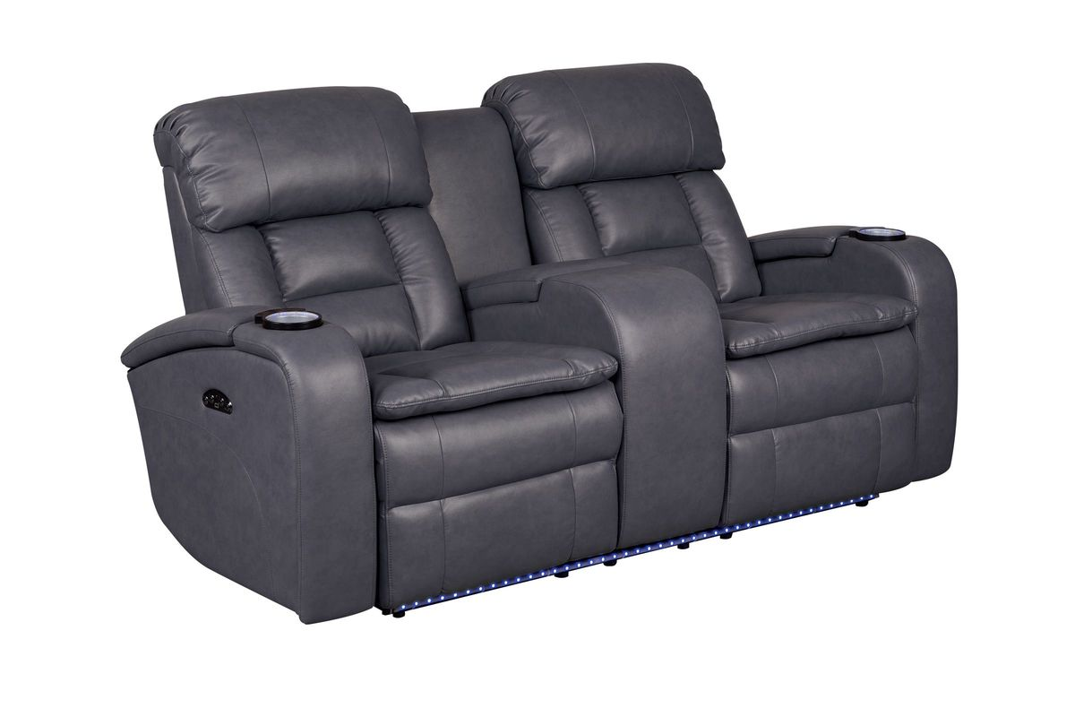 zenith power reclining loveseat with console from furniture - Power Recliner