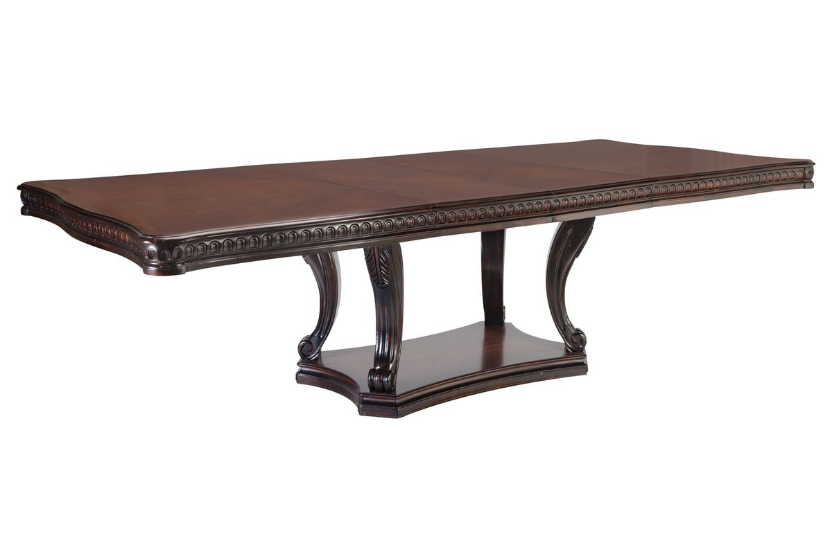 183 & Cabernet Double Pedestal Dining Table