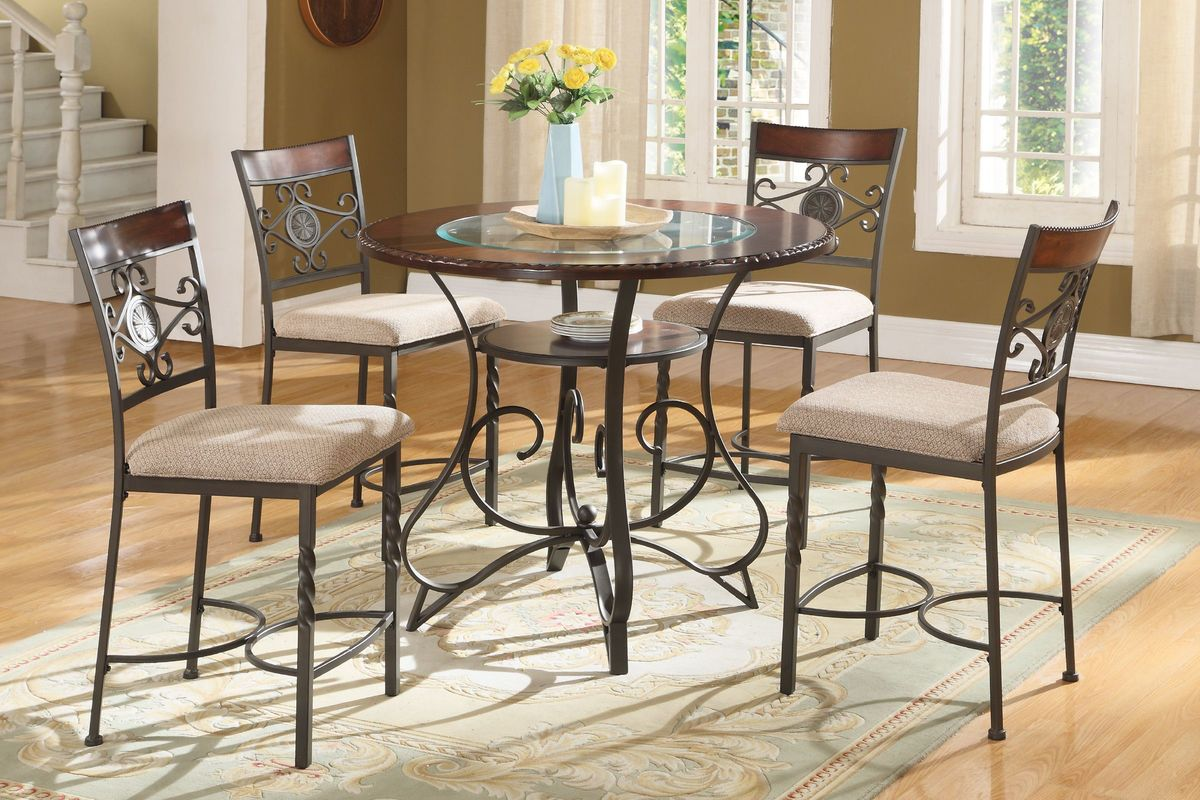 Sammy Pub Table + 4 Pub Stools from Gardner-White Furniture