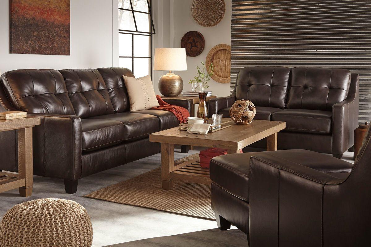 Mahogany Leather Sofa - Mahogany leather sofa
