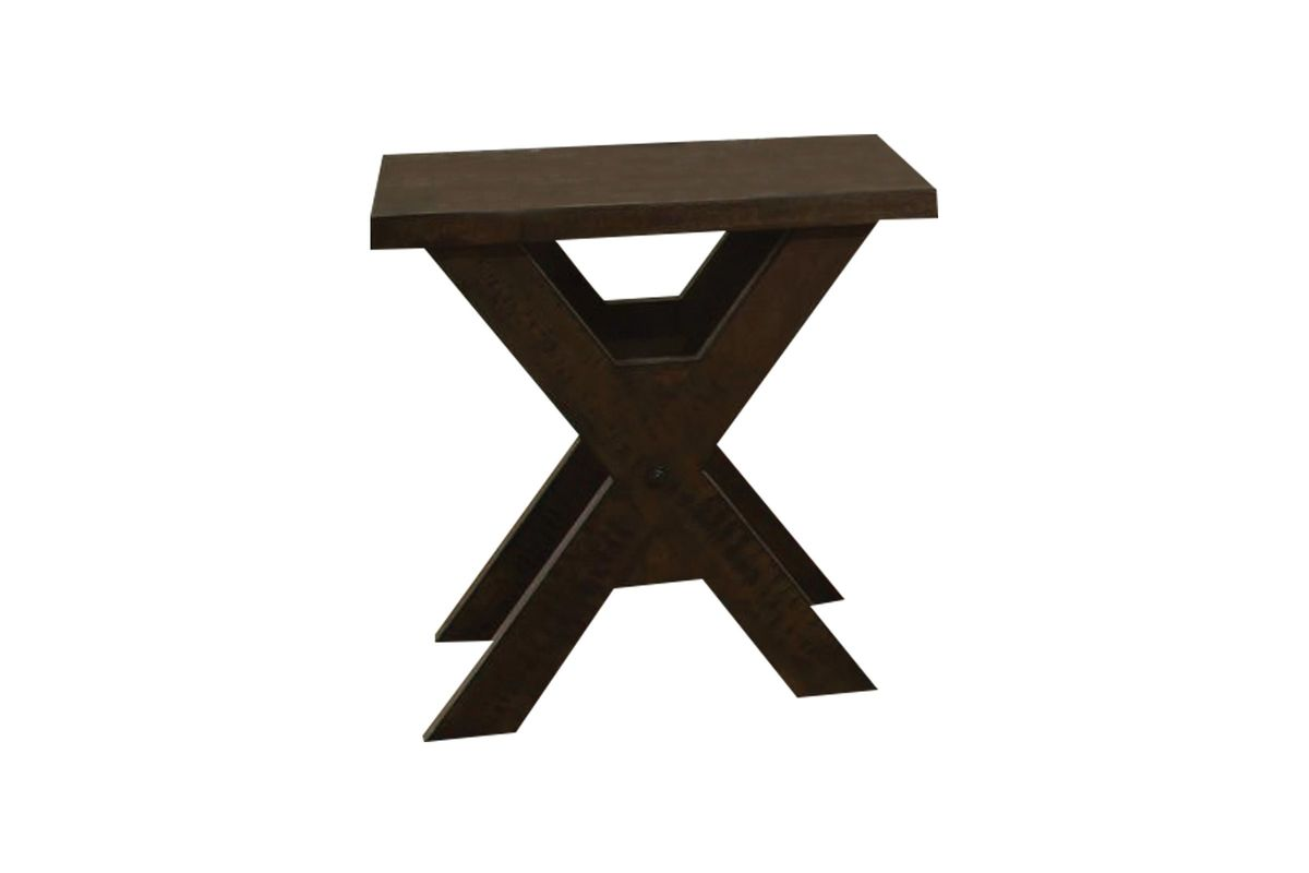Distressed Walnut End Table from Gardner-White Furniture
