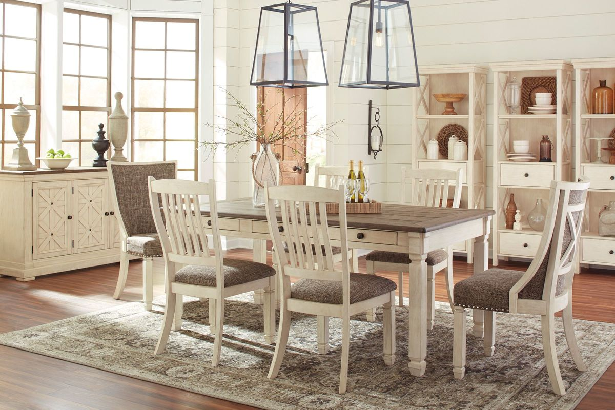 Bolanburg dining table with 2 host chairs 4 side chairs for Side chairs for dining table