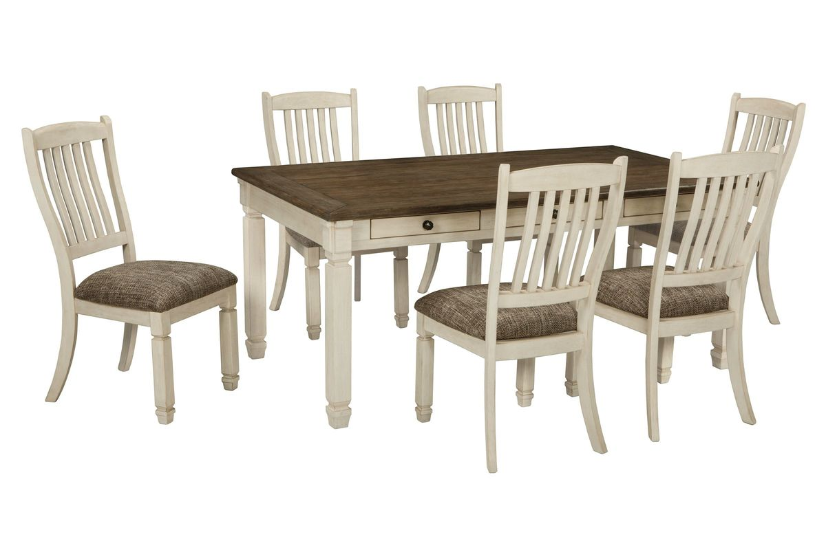 Bolanburg dining table 6 side chairs at gardner white for Side chairs for dining table