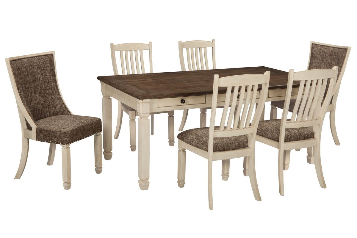 Bolanburg Dining Table With 2 Host Chairs 4 Side From Gardner White Furniture