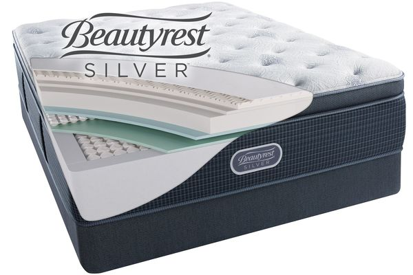 Free Boxspring Beautyrest Silver Charcoal Coast Luxury Firm Pillow Top Queen Mattress Save 578 Now 993 77 We Pay Your Tax