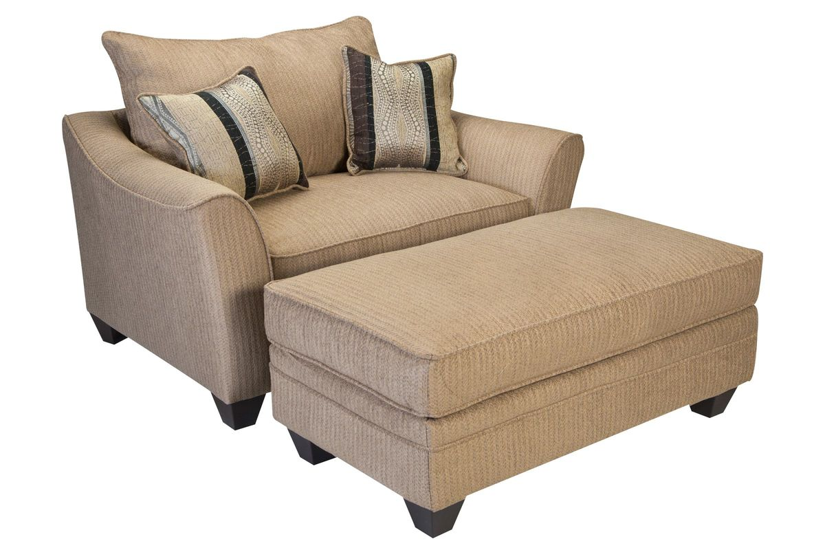 Suede Chenille Chair + Ottoman From Gardner White Furniture