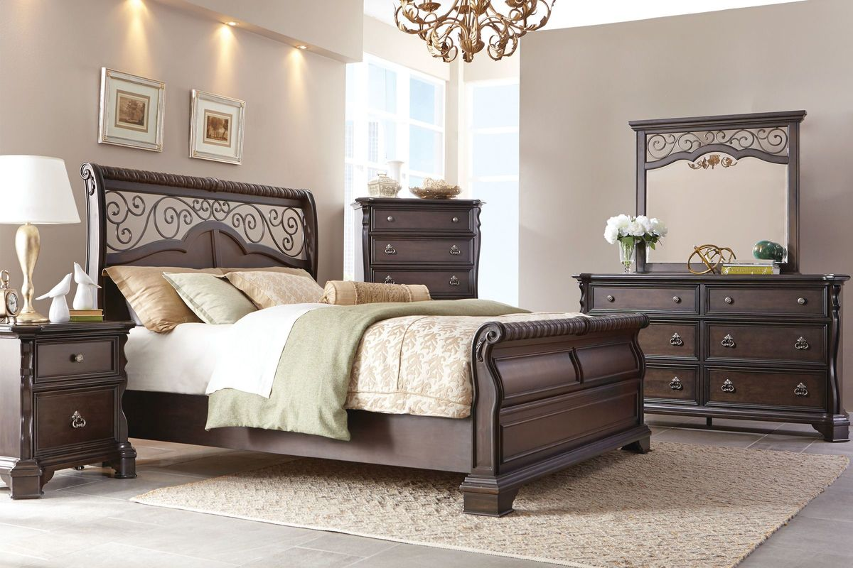 elvira 5 piece king bedroom set with 32 led tv at gardner white. Black Bedroom Furniture Sets. Home Design Ideas