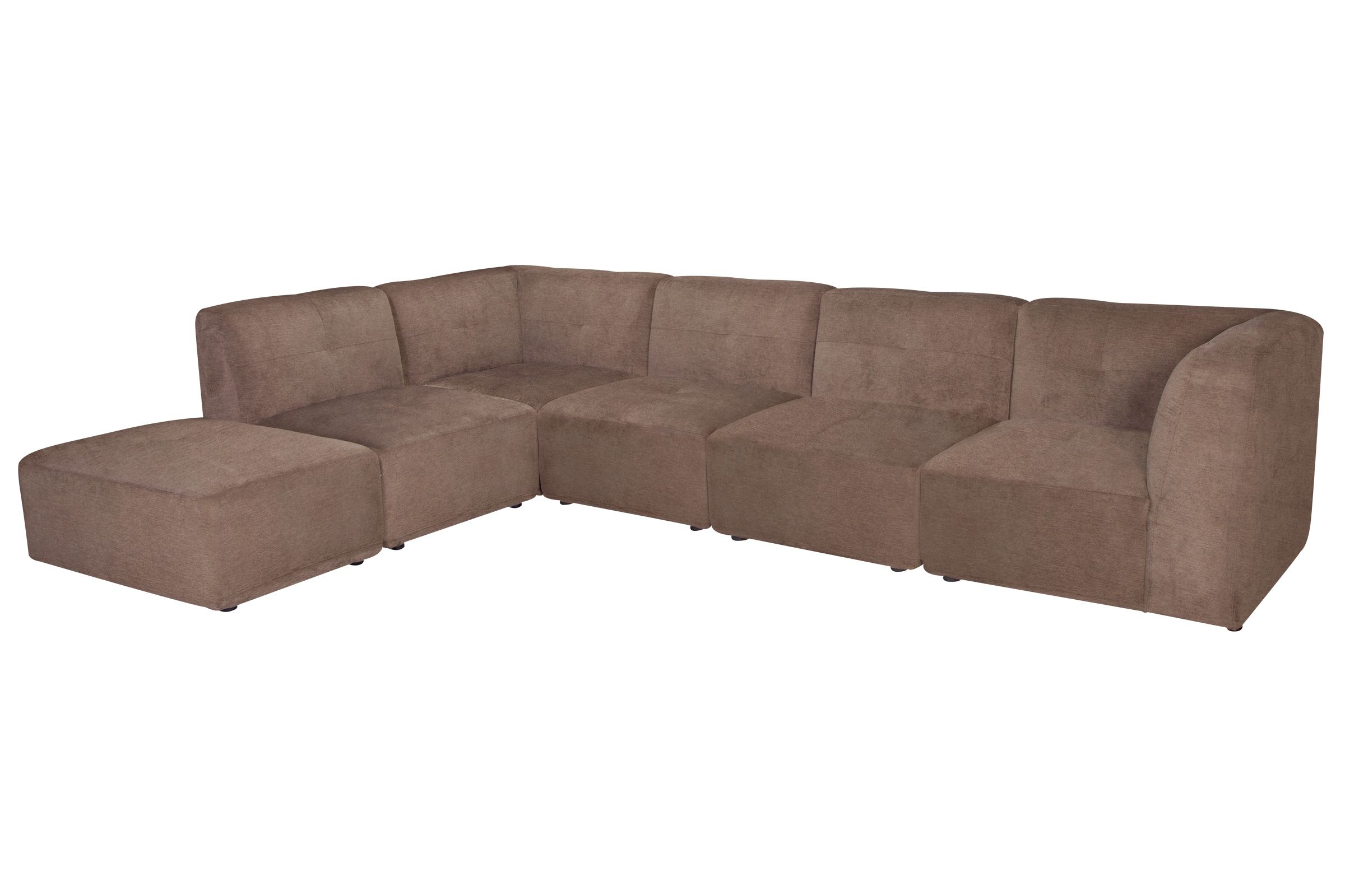 Hillsdale 6 Piece Microfiber Sectional with Ottoman