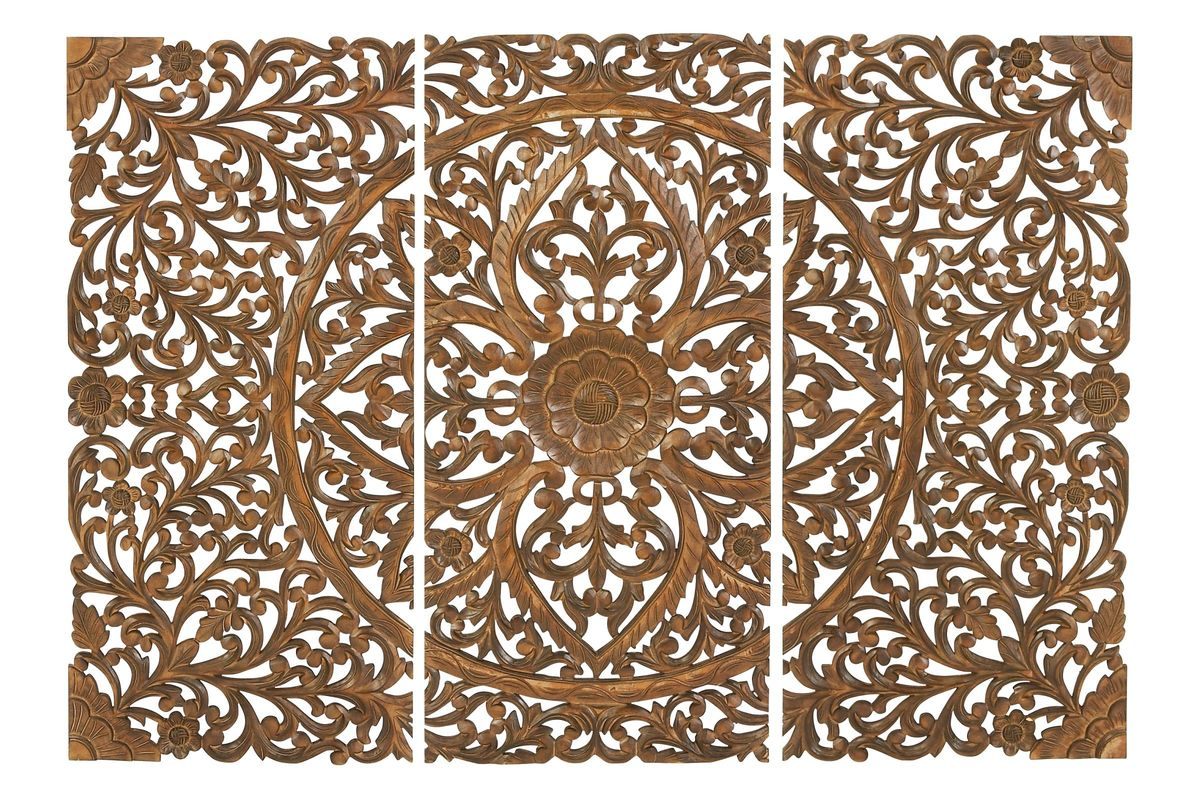 Updated Traditional Carved Wall Panels in Cherry (Set of 3) from Gardner-White Furniture