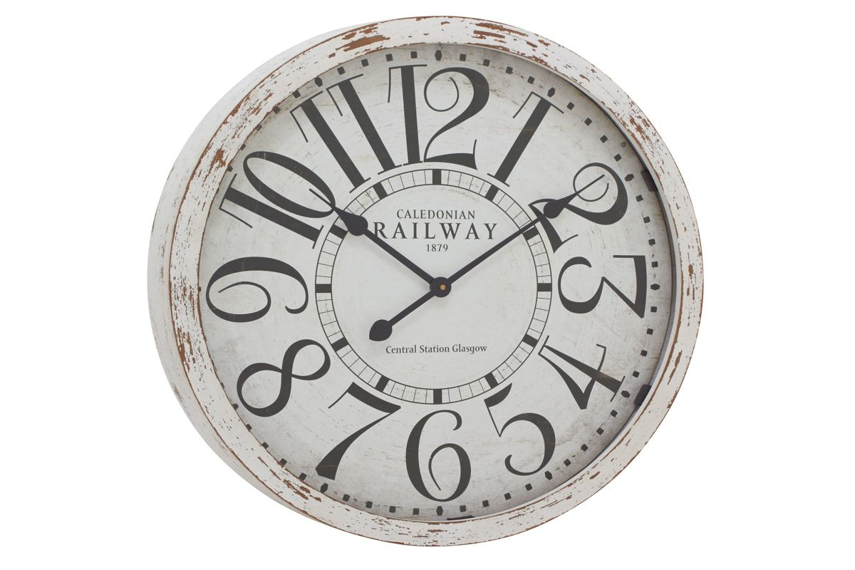 Old World Inspired Vintage Style Wall Clock From Gardner White Furniture