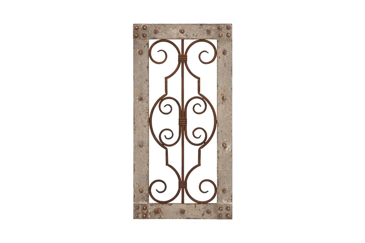 Wrought Iron Wall Panels: Rustic Elegance Wrought Iron Scrollwork Wall Panel At
