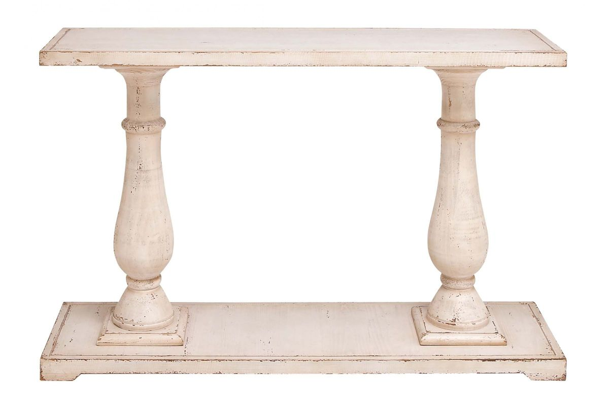 Shabby Chic Baer Leg Console Table From Gardner White Furniture