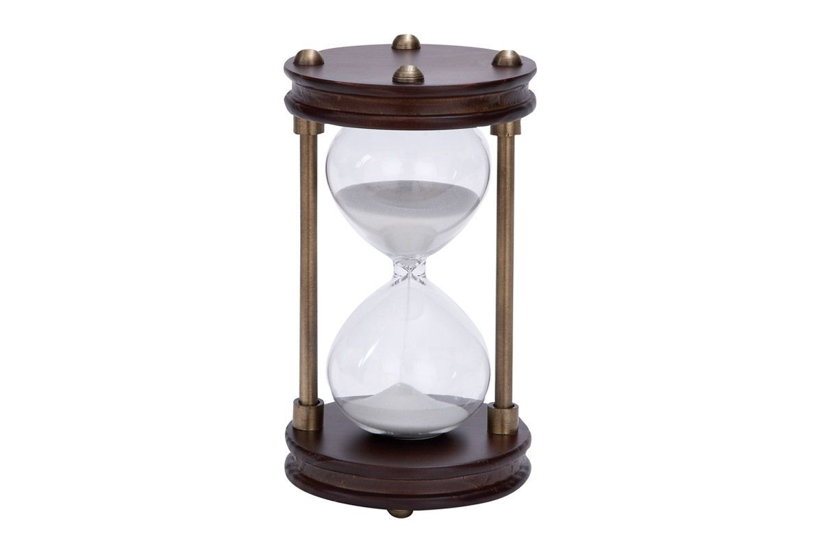 New Traditional Rustic Hourglass Timer in Mahogany from Gardner-White Furniture