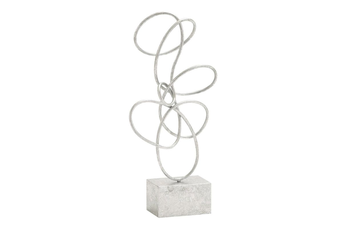 Modern Reflections Abstract Loop Knot Sculpture from Gardner-White Furniture