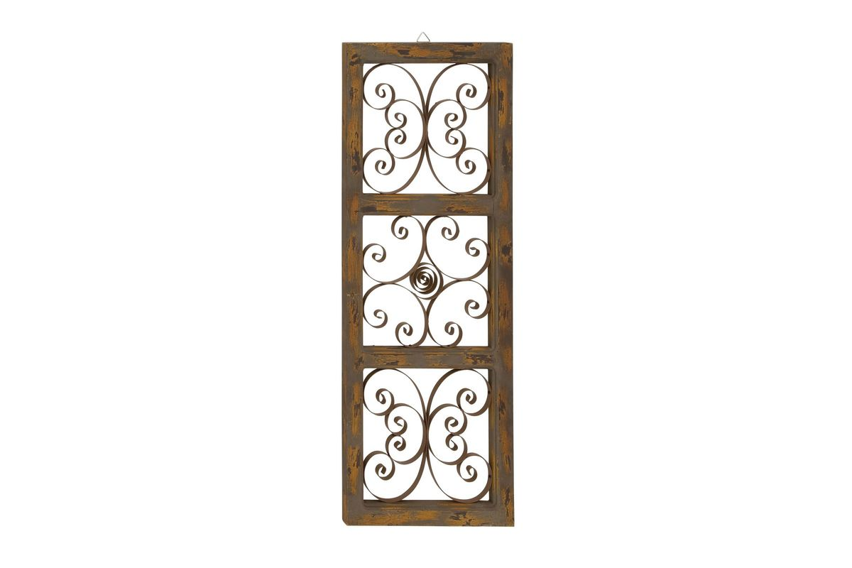 Farmhouse Iron-Band Scrollwork Wall Panel from Gardner-White Furniture