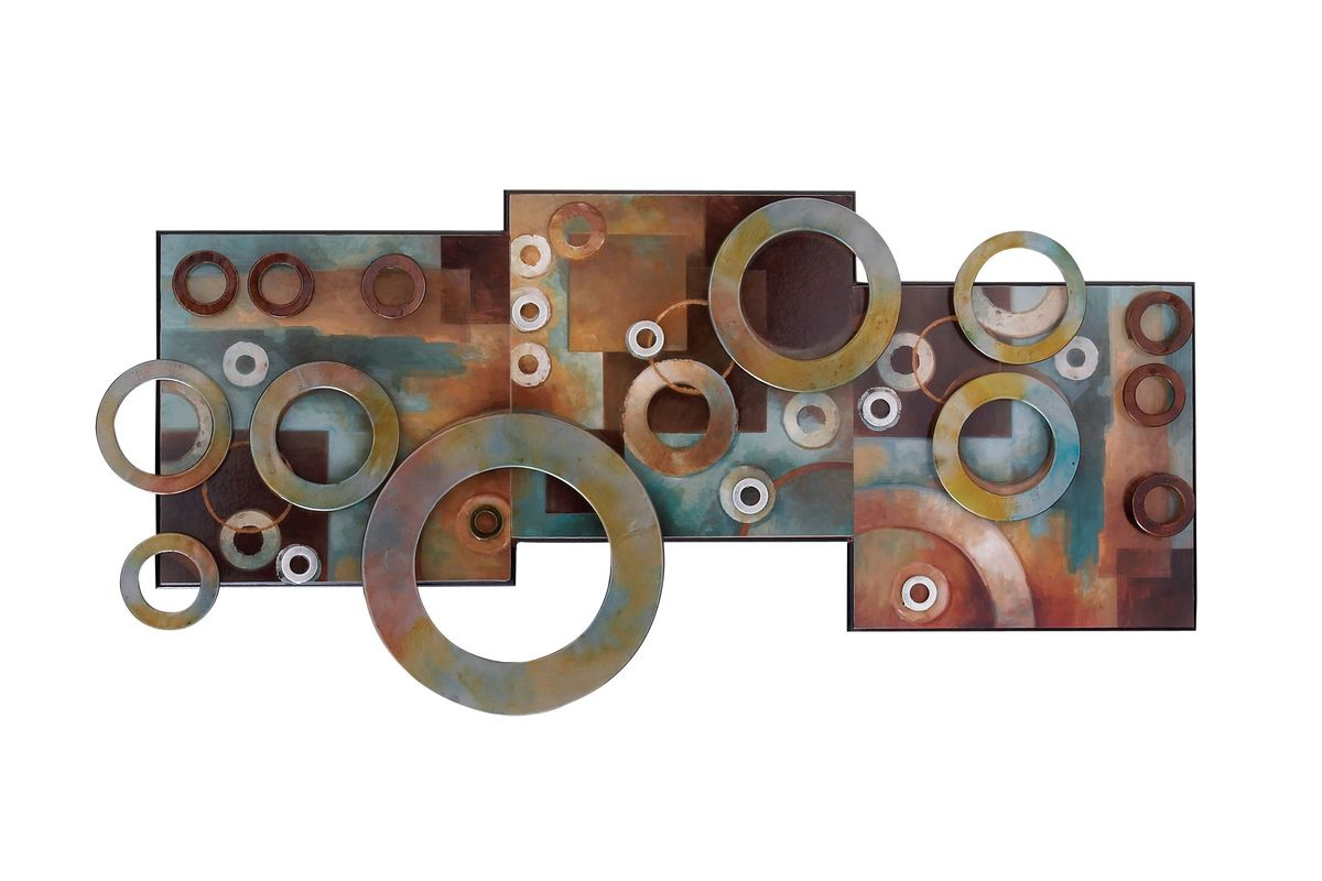 Contemporary Geometric Ring Wall Art Montage from Gardner-White Furniture