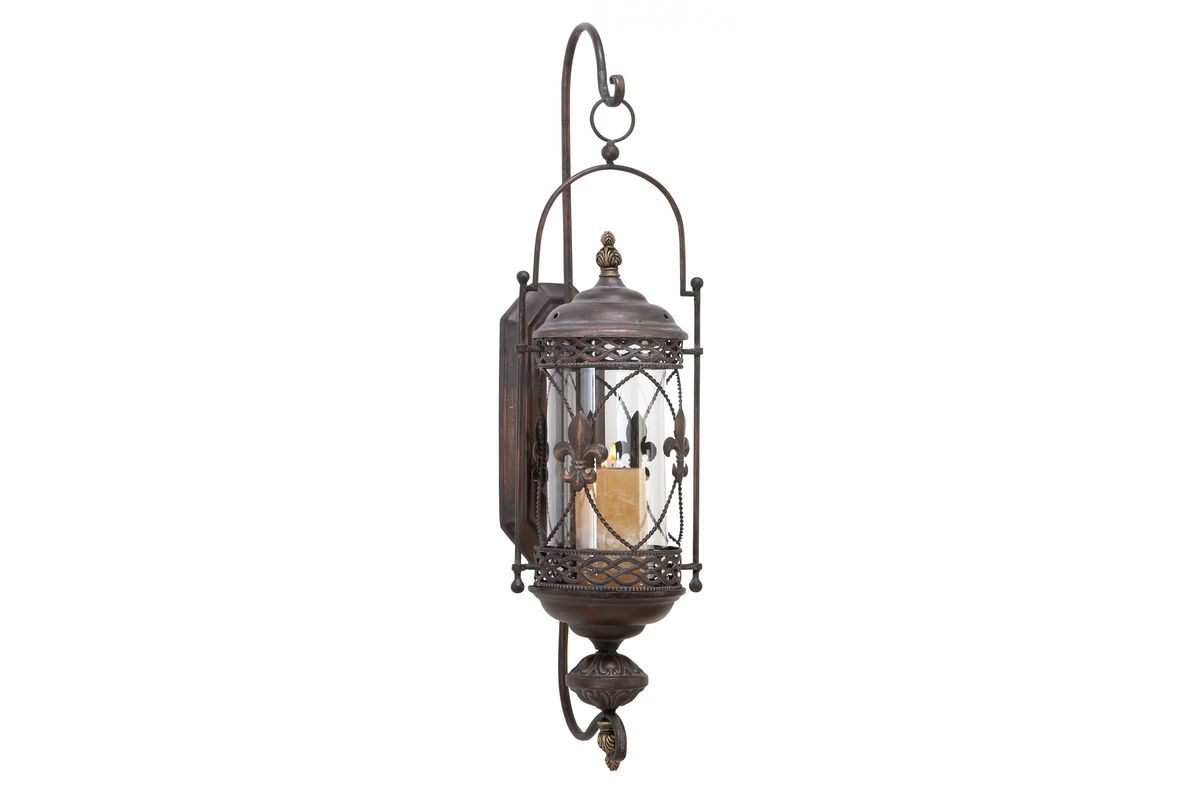 Old World Inspired 30 Wall Sconce Candle Lantern