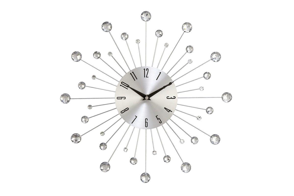 Modern Reflections Metal Wall Clock from Gardner-White Furniture