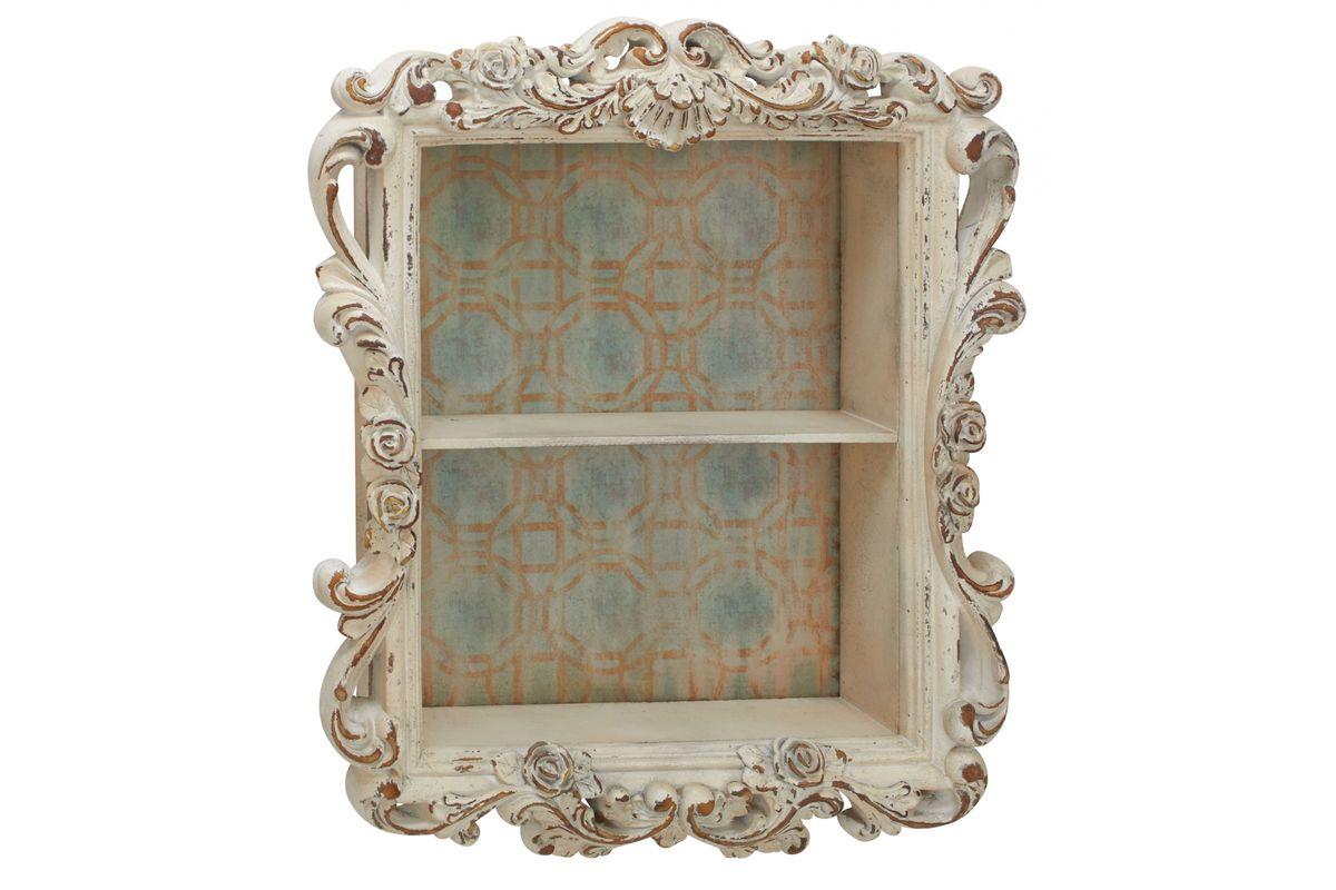 Rustic Elegance Distressed 2-Shelf Wall Cabinet at Gardner ...
