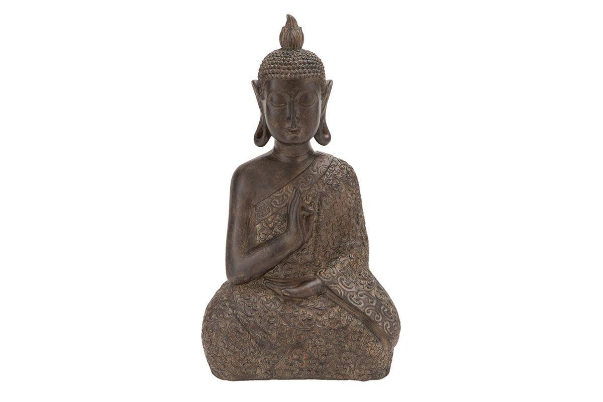 Global Inspired Meditating Thai Buddha Sculpture in Brown from Gardner-White Furniture