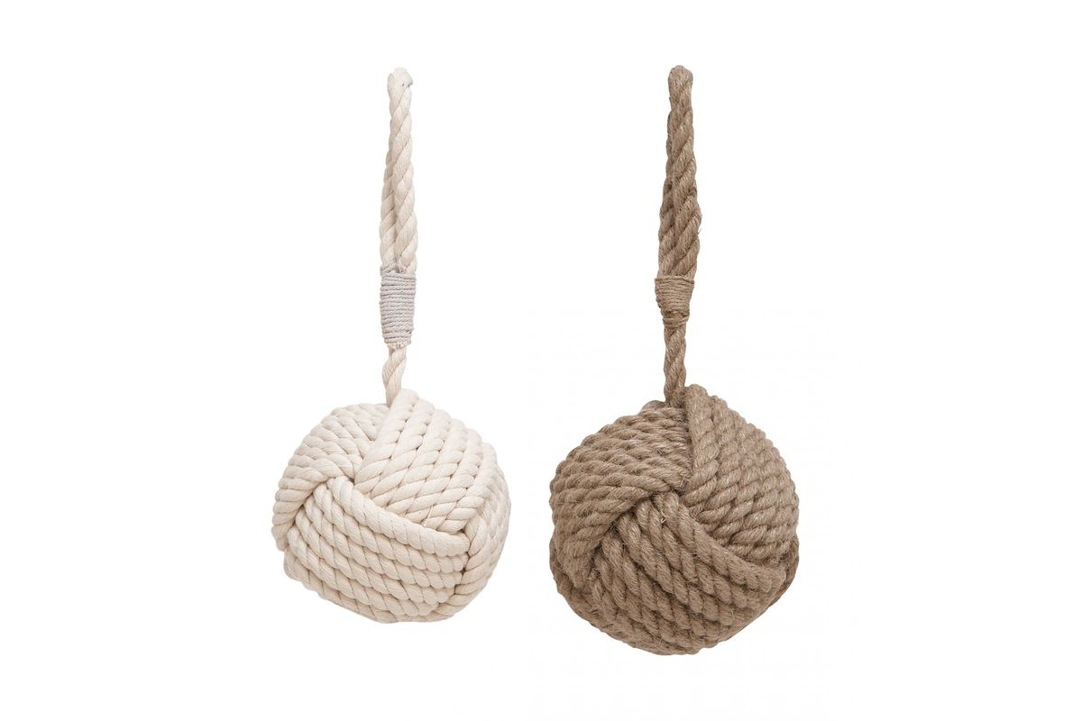 Coastal Living Knotted Rope Doorstops (Set of 2) from Gardner-White Furniture