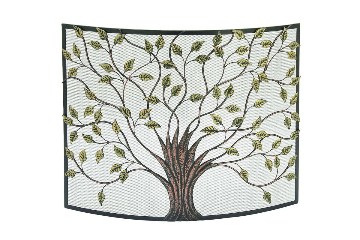 Rustic Reflections Curved Iron Tree Fire Screen from Gardner-White Furniture