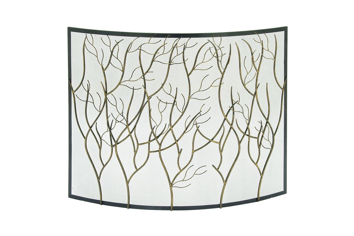 Rustic Reflections Curved Iron Stylized Tree Branch Fire Screen from Gardner-White Furniture