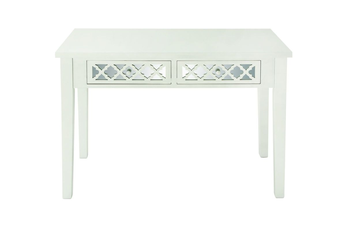 modern reflections mirrored 2drawer vanity desk by umaship from