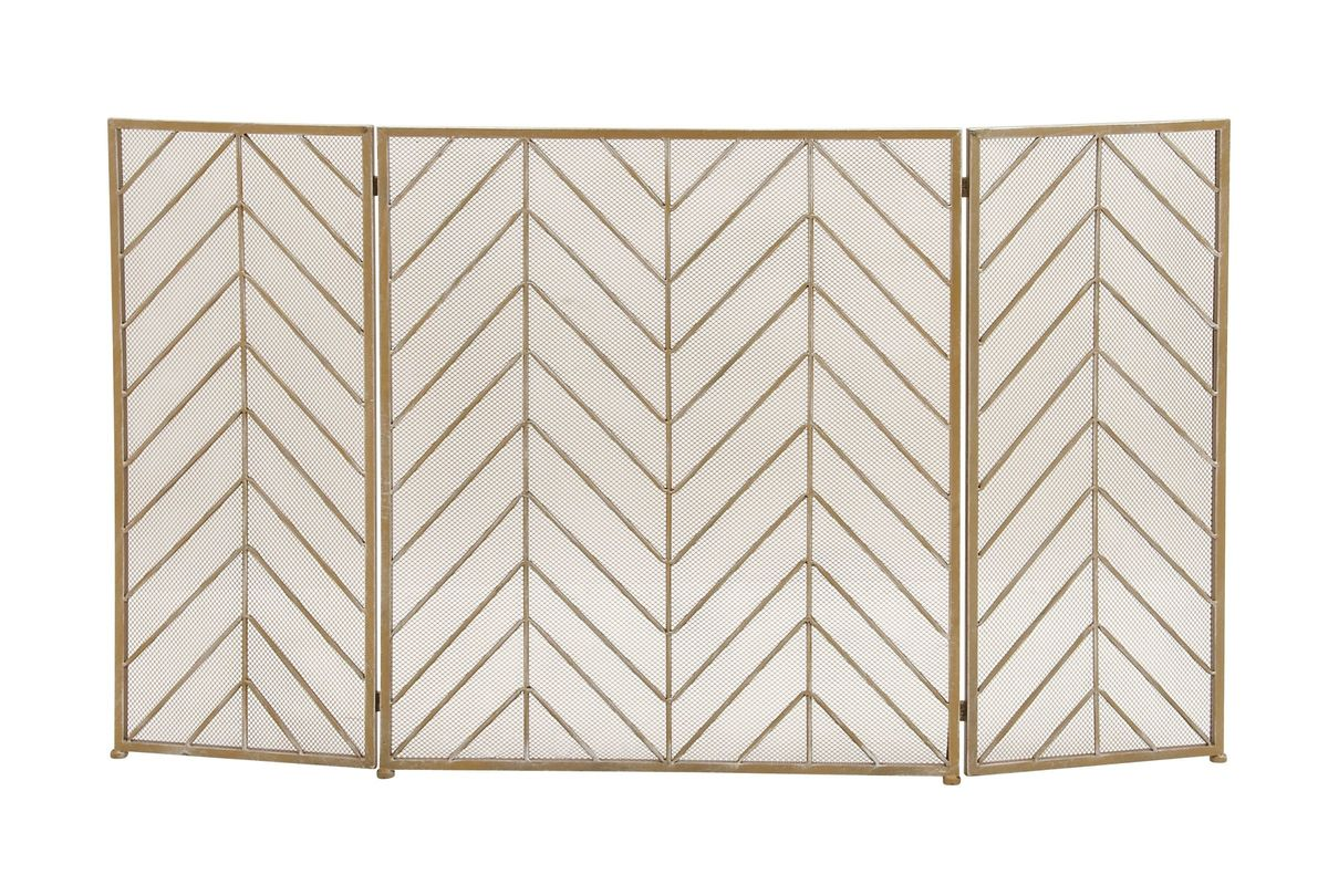 Home and Hearth Tin Chevron Fire Screen from Gardner-White Furniture