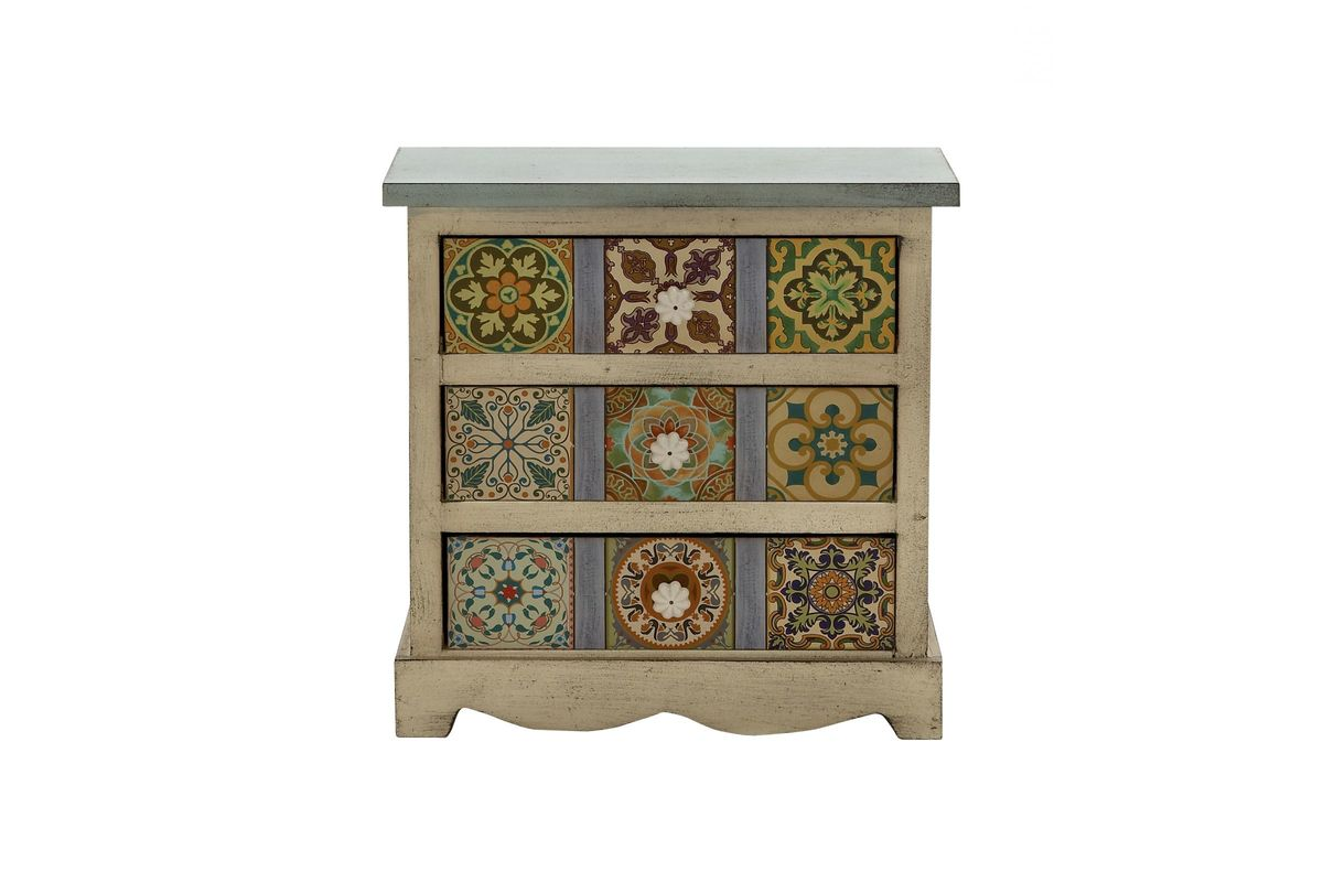 New Traditional Canvas 3-Drawer Accent Chest from Gardner-White Furniture