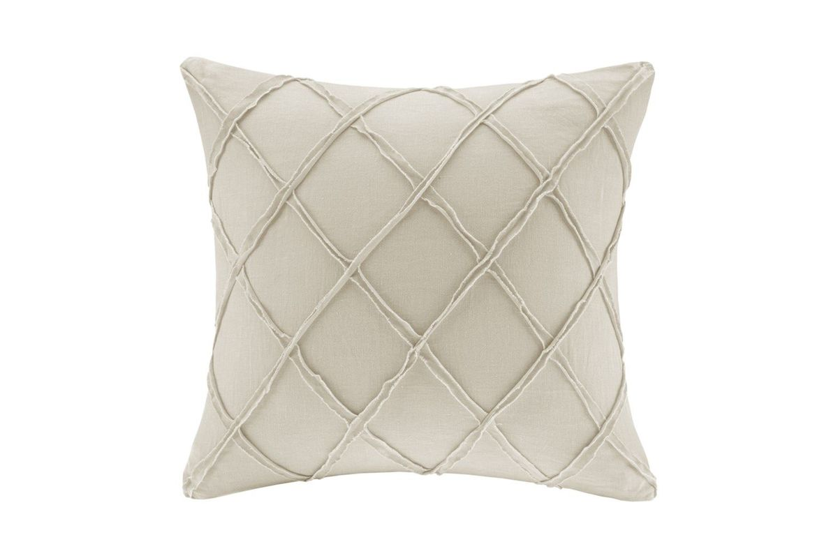 White Linen Throw Pillow : Arbor Linen Throw Pillow at Gardner-White