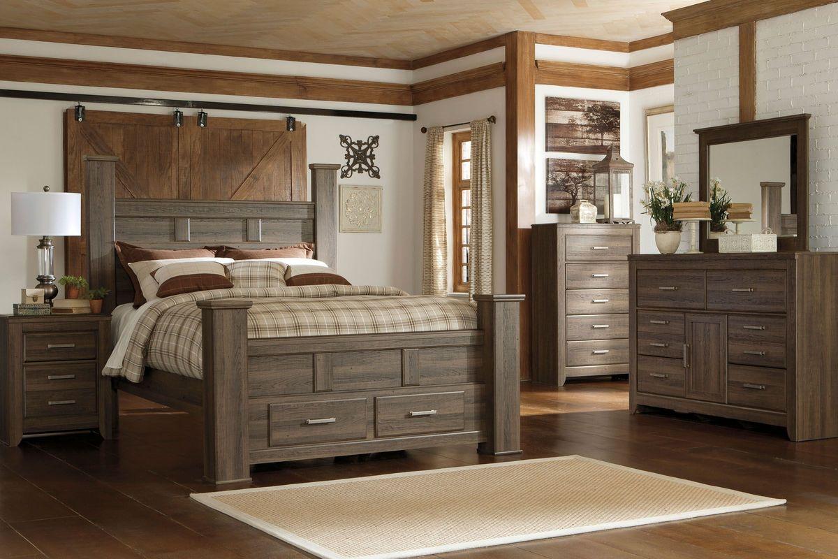 "jeri 5-piece king bedroom set with 32"" led-tv"