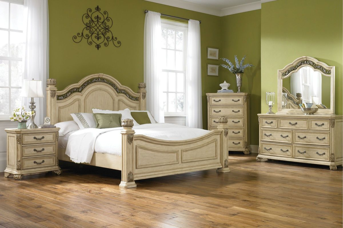 "rometta 3piece queen bedroom set with 32"" ledtv at"