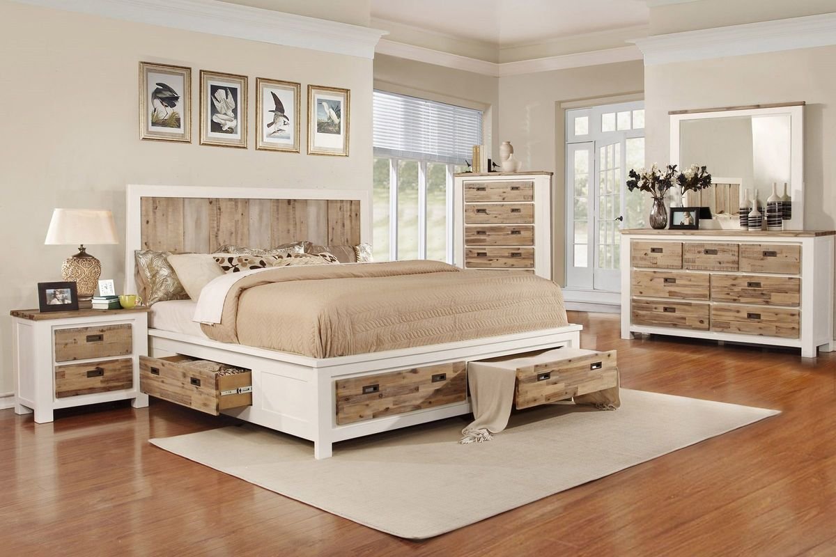 Delightful Western 5 Piece Queen Bedroom Set With 32