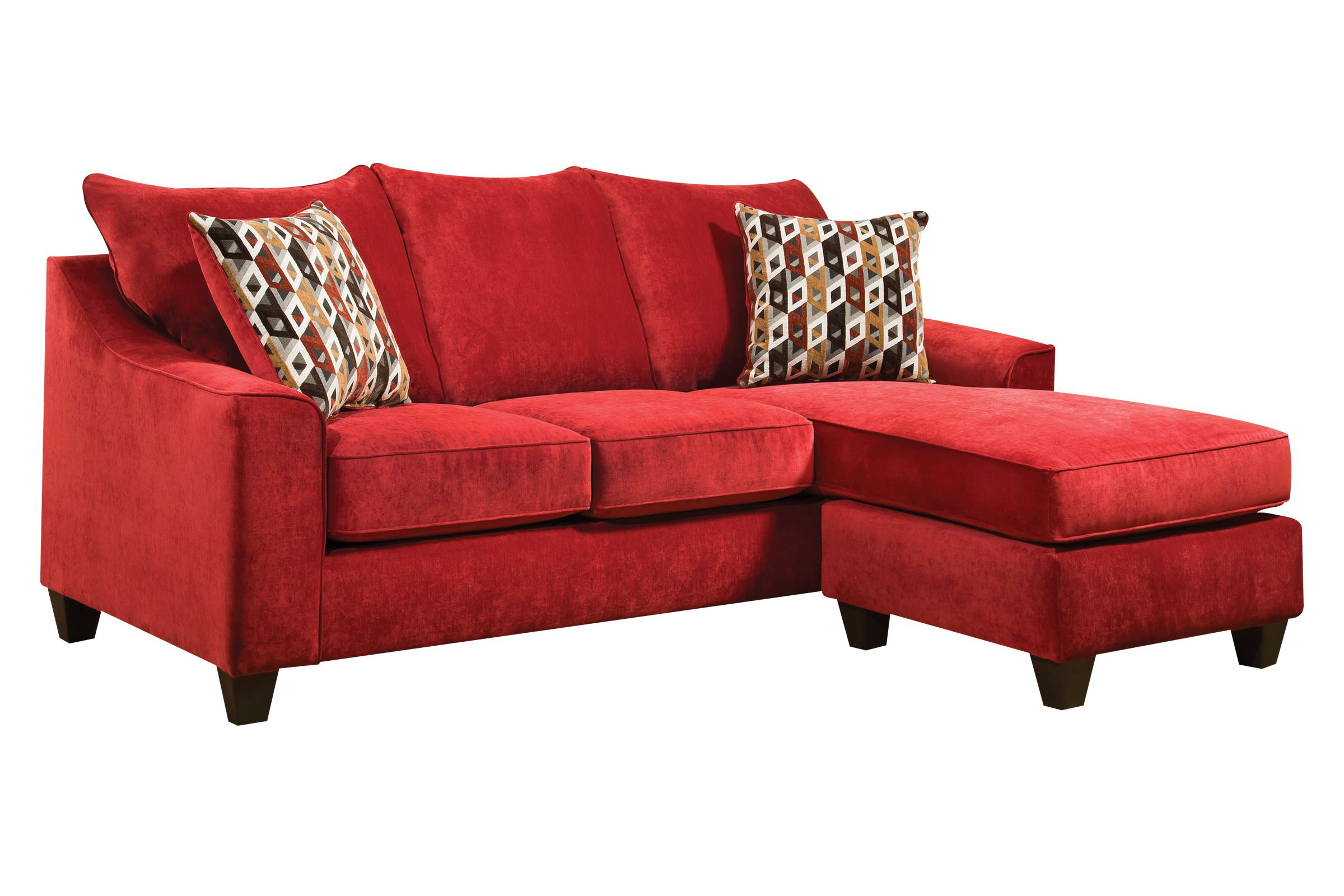 Fantastic Elizabeth Sofa In Red With Moveable Chaise Pabps2019 Chair Design Images Pabps2019Com