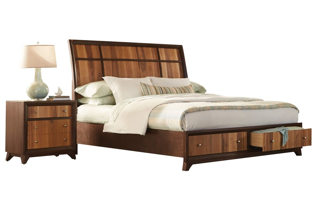 Kendall queen storage bed at gardner white for Gardner storage