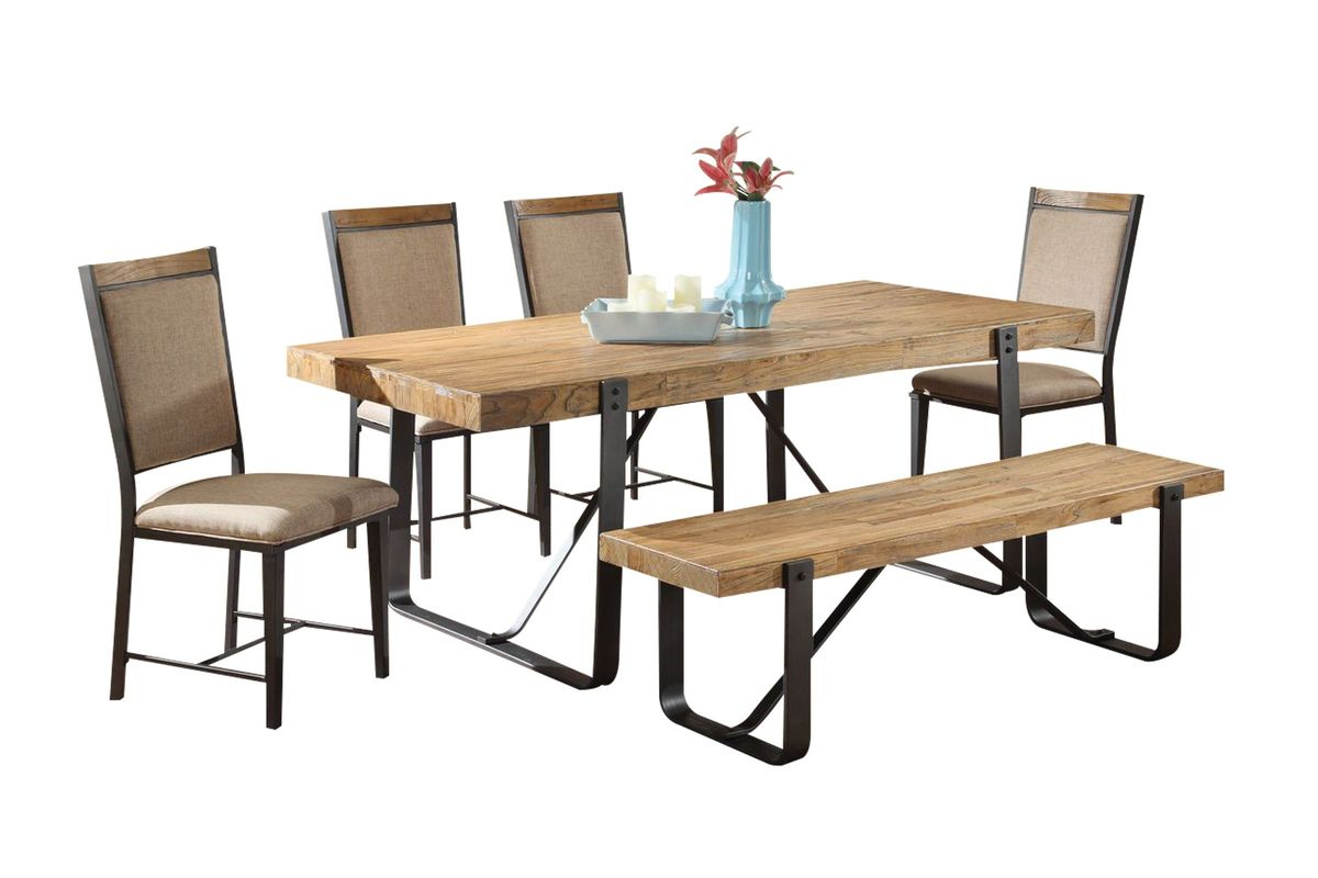 Nice Clyde Table + 4 Side Chairs + Bench From Gardner White Furniture
