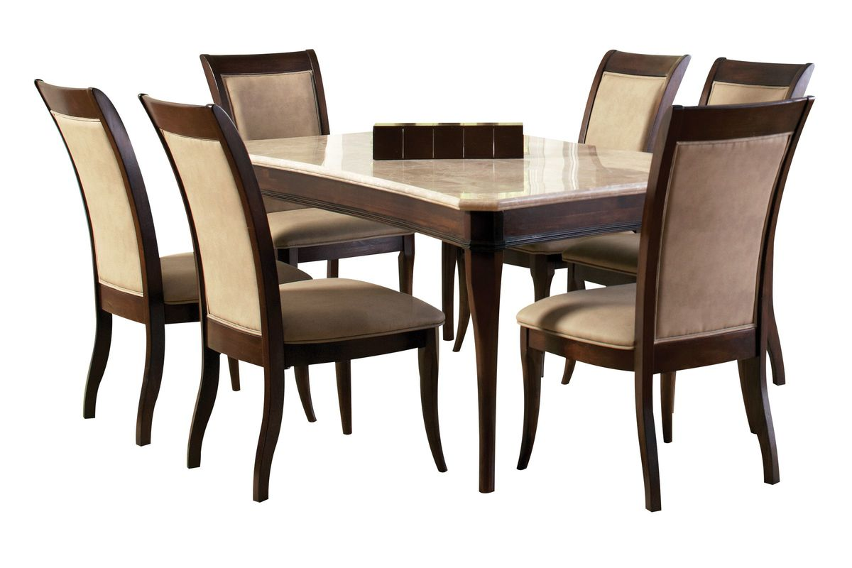 Marseille Dining Table + 6 Side Chairs from Gardner-White Furniture