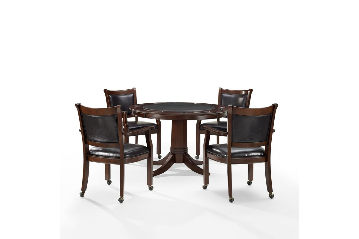 Reynolds Poker Table U0026 4 Chairs In Rustic Mahogany By Crosley From  Gardner White Furniture