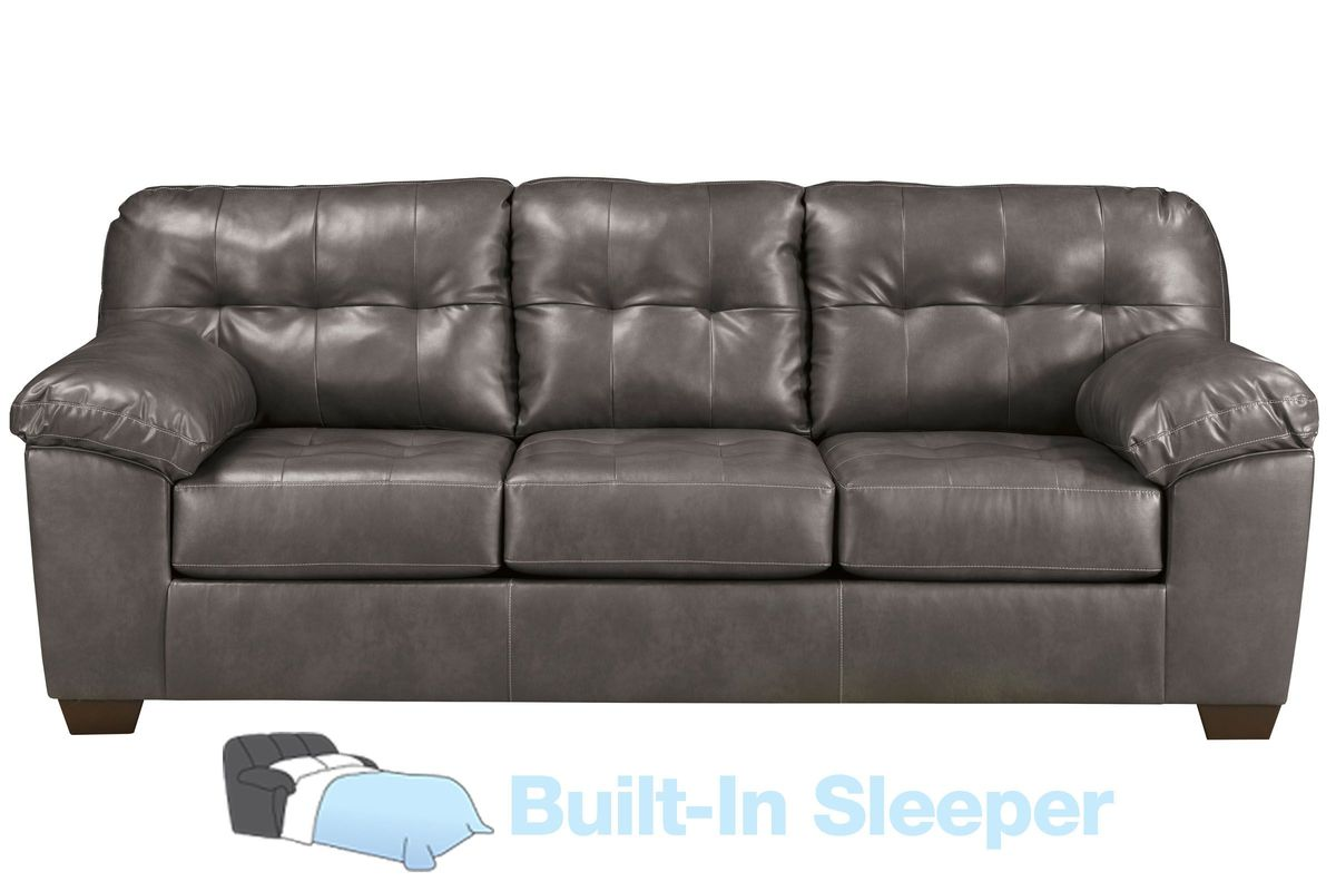 Edison Bonded Leather Queen Sleeper Sofa From Gardner White Furniture